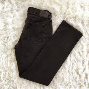 Black Levi's 505 Straight Leg Jeans Size 4